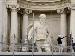 Restauro della Fontana di Trevi